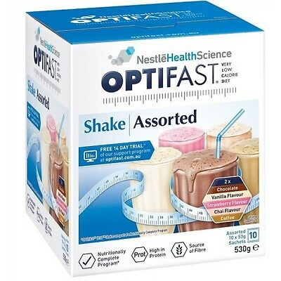 Optifast Shake Assorted 10 x 53g Sachets