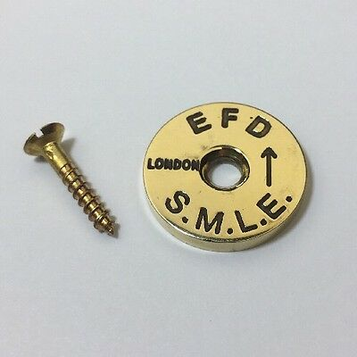 British Enfield No1 Mk3 Brass Stock Disc With Screw