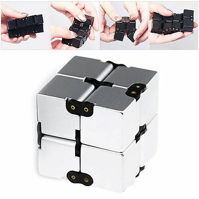 Metal Infinity Cube For Stress Relief Fidget Anti Anxiety Stress Funny EDC Toy Y