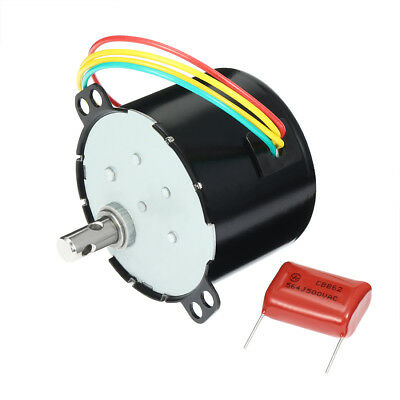 AC 110V 50Hz 6W 80RPM Synchronous Motor Output Speed Reduction Geared Box