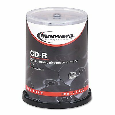 Innovera 77990 CD-R  Disk  52x -80Min / 700 MB - 100 Pack Spindle -
