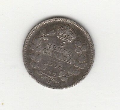 1903 H Five Cent Silver Large H Small H ~