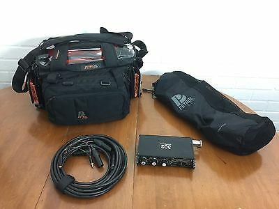 Sound Devices 302 Mixer With L Petrol Bag, harness & 25' ENG Breakaway XLR cable