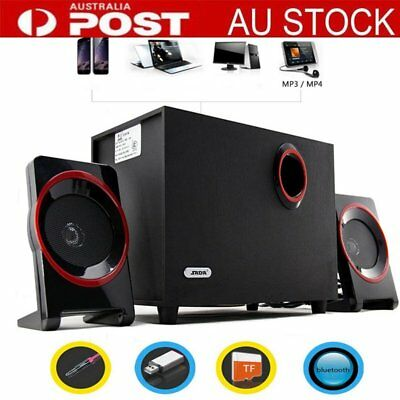 Speed  2.1 USB Multimedia PC Speakers for Desktop Laptop Computers AU-POST