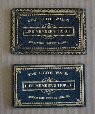 Rare 1890's NSW Association Cricket Ground Life Members Ticket Sydney SCG Badge