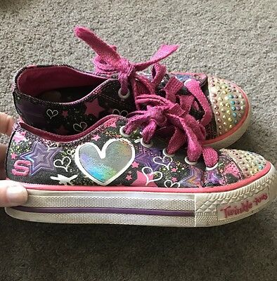 Girls Size 13 Sketchers Twinkle Toes Shoes (Laces)
