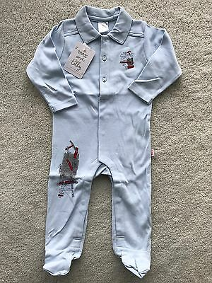 Max and Tilly Baby Boy Clothes Winter Romper with feet 9 months
