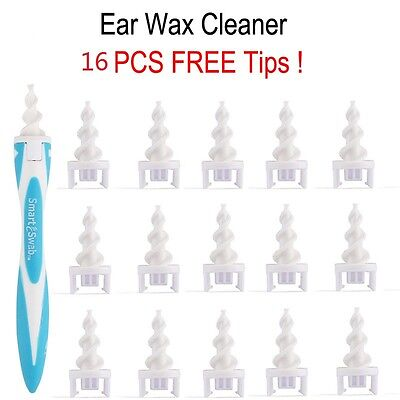 Smart EarWax Cleaner Removal Soft Spiral Ear Wax Cleaner Remover Swab