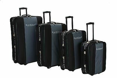 Rockland F50 Polo Equipment Luggage Set Black One Size 4-Piece