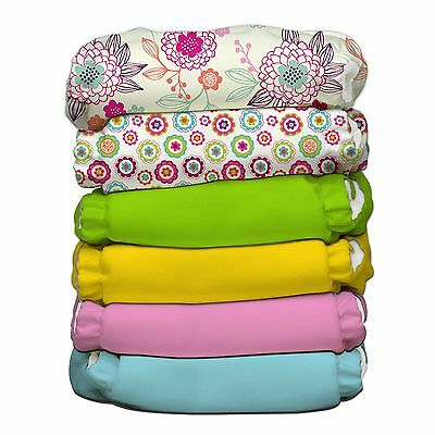 Charlie Banana 6 Diapers 12 Inserts Organic Dreamy One Size