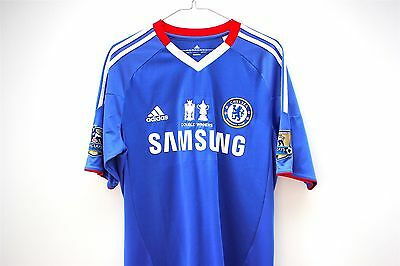 Chelsea Rare 2010/11 Adidas Double Winners Men's Jersey  - Size S Terry Lampard