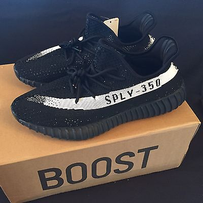 Adidas Yeezy Boost 350 V2 Black/White OREO BY1604  Mens 11