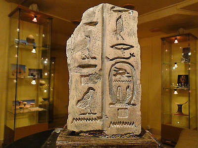 An egyptian fragment of Old kingdom wall relief