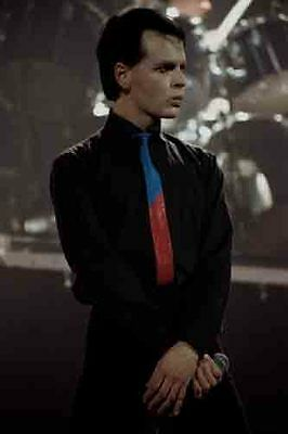 """12""""*8"""" concert photo of Gary Numan playing at Liverpool in 1979"""
