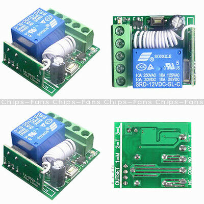 1 Channel 315/433MHz Wireless Relay RF Remote Control Switch Receiver  DC12V 10A