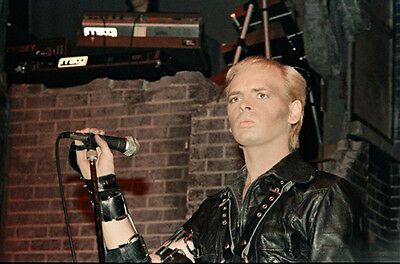 """12""""*8"""" concert photo of Gary Numan playing at Coventry in 1983"""