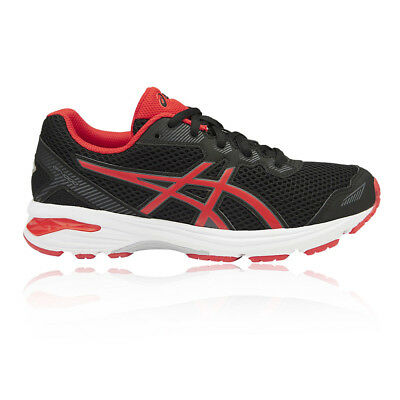 Asics GT 1000 5 GS Junior Boys Red Black Support Running Shoes Trainers