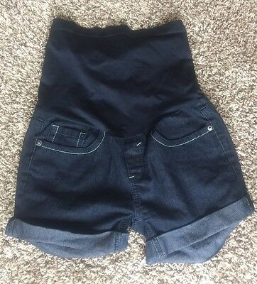 Bella Vida Maternity Jean shorts Size Small with full coverage belly panel