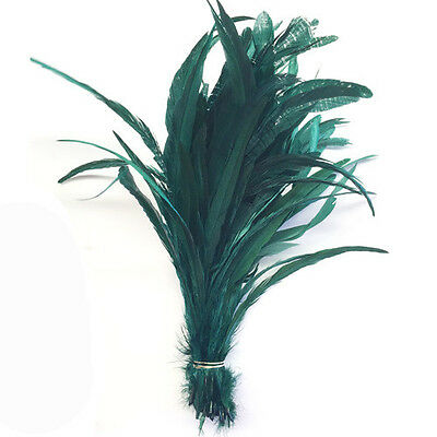 "14/16"" - 400mm Green Coque Tails/10pcs"
