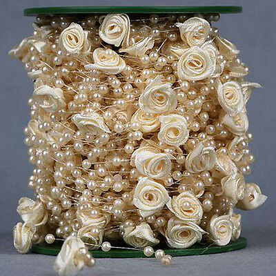 Ivory Pearl & Flower Garland 5 mtrs