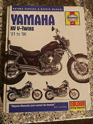 Yamaha XV twins Haynes workshop manual Virago 535 750 TR1 1100