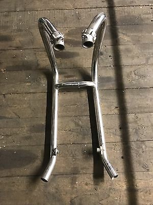 Triumph T100 Bonneville Stainless Steel Exhaust Down Pipes Genuine