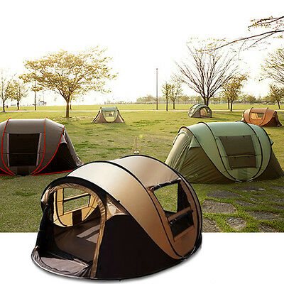 5-6 Person Camping Pop Up Tent Waterproof Automatic Outdoor Hiking Tent New