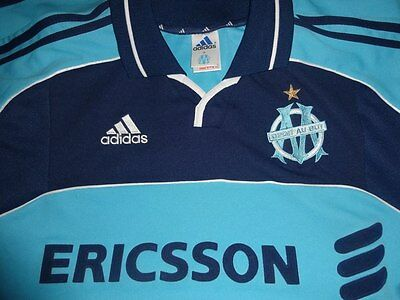 Maglia OLYMPIQUE MARSIGLIA MARSEILLE France Jersey Football Rare away 2000/01