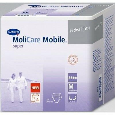 Molicare Mobile Super Medium Pull upNappies / Diapers  (6 x 14 diapers = 6 bags)
