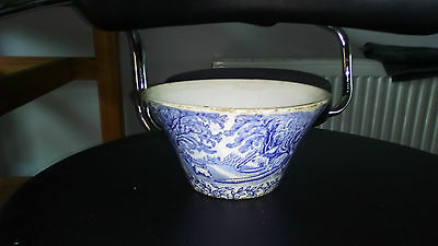Antique Vintage Blue and White bowl  Porcelain