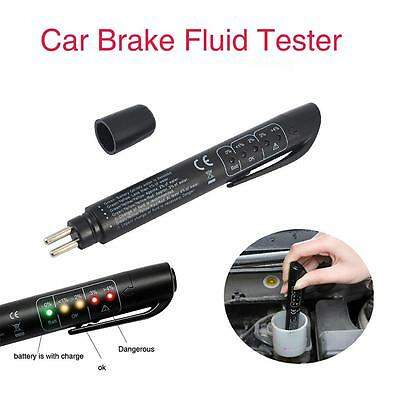 Brake Fluid Tester LED Moisture Water Compact Tool DOT3 4 Test Indicator Pen VB@