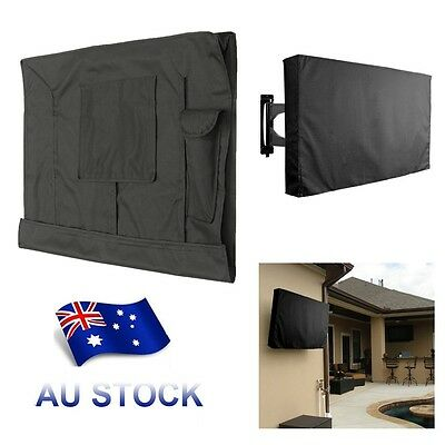 50'' inch Waterproof TV Cover Outdoor Patio Flat Television Protector Black AU