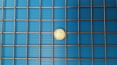 """Stainless Steel Welded Wire Mesh 1""""x1""""x2.5mm Panel- 48"""" x 18.0"""" (1220mm X 460mm)"""