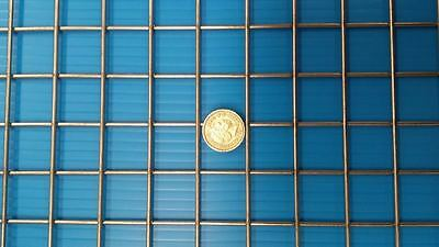 """Stainless Steel Welded Wire Mesh 1""""x1""""x2.5mm Panel- 48"""" x 12.0"""" (1220mm X 305mm)"""