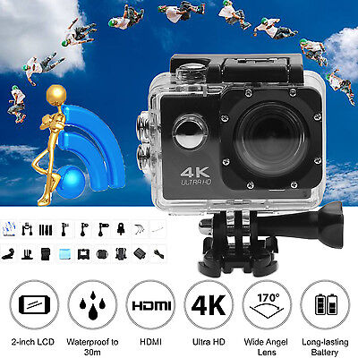 Waterproof Ultra 4K Full HD 1080P Sport Camera WiFi Action Camcorder as Go Pro