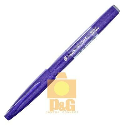 Pentel Pentel Fude Touch Brush Sign Pen SES15C Calligraphy Sketching / Violet