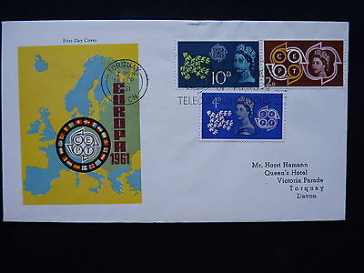 Great Britain. Gb. European Postal & Telecommunication First Day Cover.18/9/61
