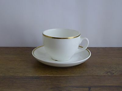 Wedgwood Metalised Bone China Cup And Saucer.