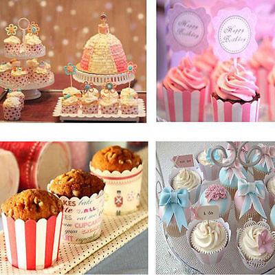 50 x Wedding Paper Cupcake Liners Cake Cup Baking Muffin Cases Cake Decorating