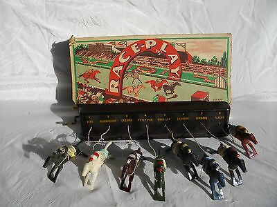 "Antique ""race Play' Horse Racing Game Original Box And Instructions"