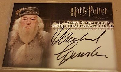 harry potter OOTPu dumbledore Michael Gambon auto card artbox