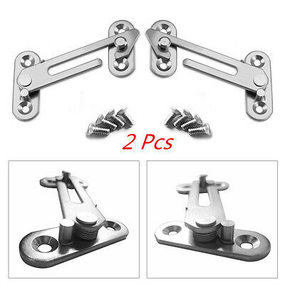 2pcs Window Restrictor Lock Child Safety Hook Stop Catch Security Casement Stay