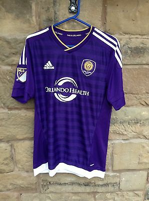 Brand New With Tags Orlando City FC 2016/17 Adidas Home Playing Shirt Large