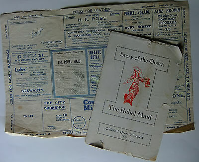 Guildford Operatic Society Programme 1930