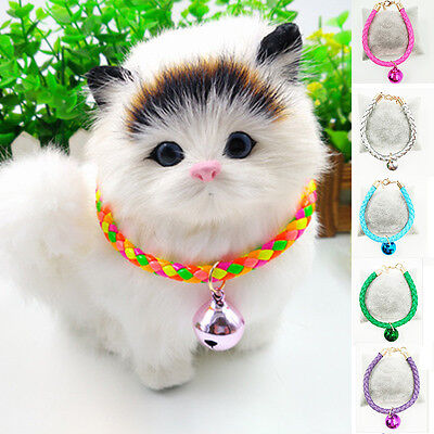 Adjustable Bells Pet Collar Small Dog Puppy Cat Necklet Buckle Neck Strap
