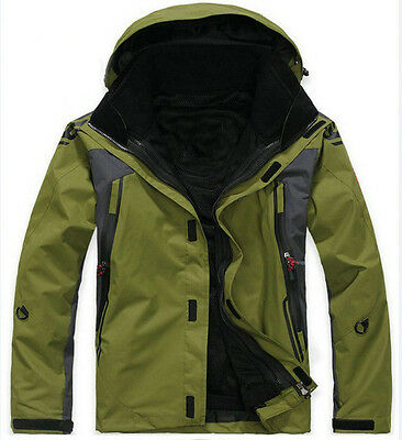 Men Green Ski Snow Snowboard Winter Waterproof breathable Jacket S M L XL XXL