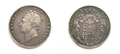 George Iv 1828 Silver Halfcrown - Very Rare Key Date
