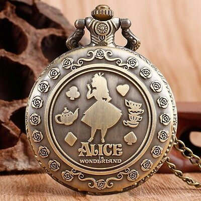 Alice au Pays des Merveilles - Alice in Wonderland Collier Montre - Watch