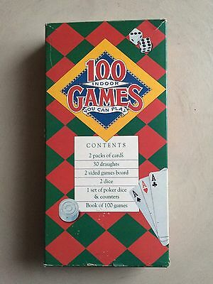 100 Indoor Games You Can Play - Draughts/Cards/Book of 100 Games etc Vintage