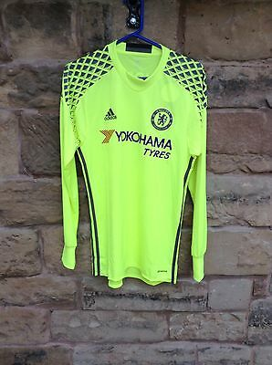 Brand New With Tags Chelsea FC 2016/17 Adidas Goalkeeper Shirt Yellow Small
